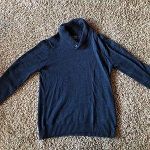 Great Northwest Button Cowl-Neck Sweater